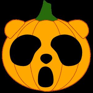 Panda in Halloween - cute sticker messages sticker-7