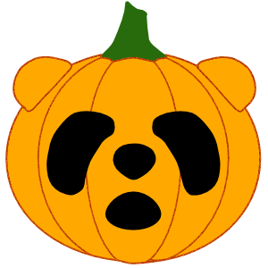 Panda in Halloween - cute sticker messages sticker-8