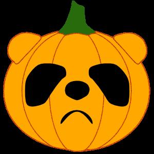 Panda in Halloween - cute sticker messages sticker-6