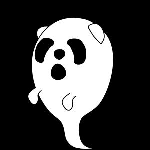 Panda in Halloween - cute sticker messages sticker-11