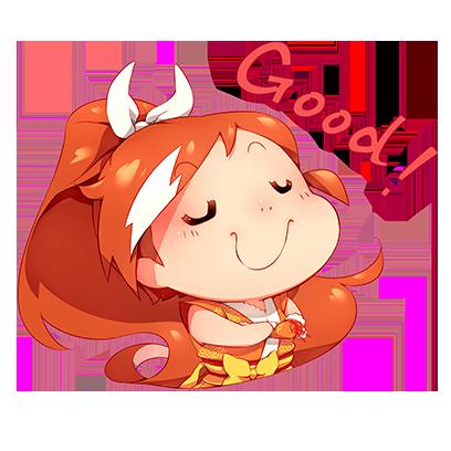 Official Crunchyroll-Hime Sticker Pack messages sticker-2