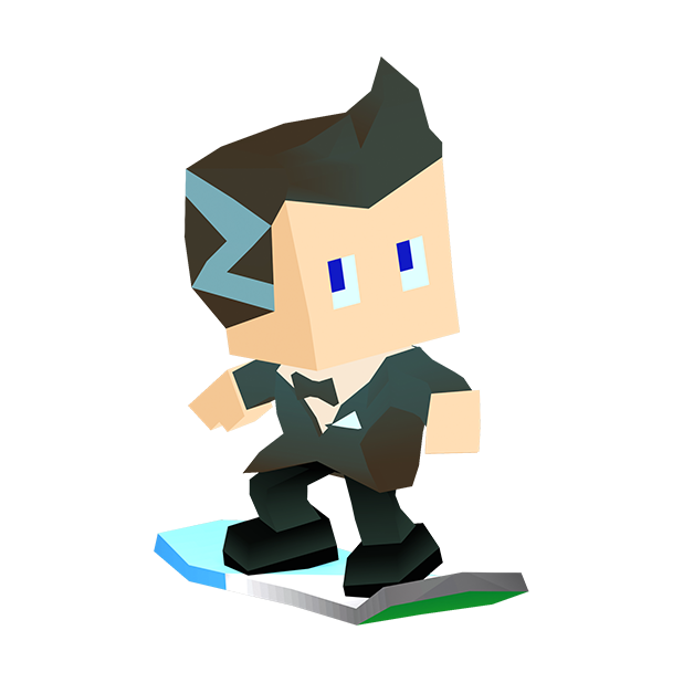 Blocky Snowboarding - Endless Arcade Runner messages sticker-0