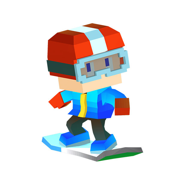 Blocky Snowboarding - Endless Arcade Runner messages sticker-5