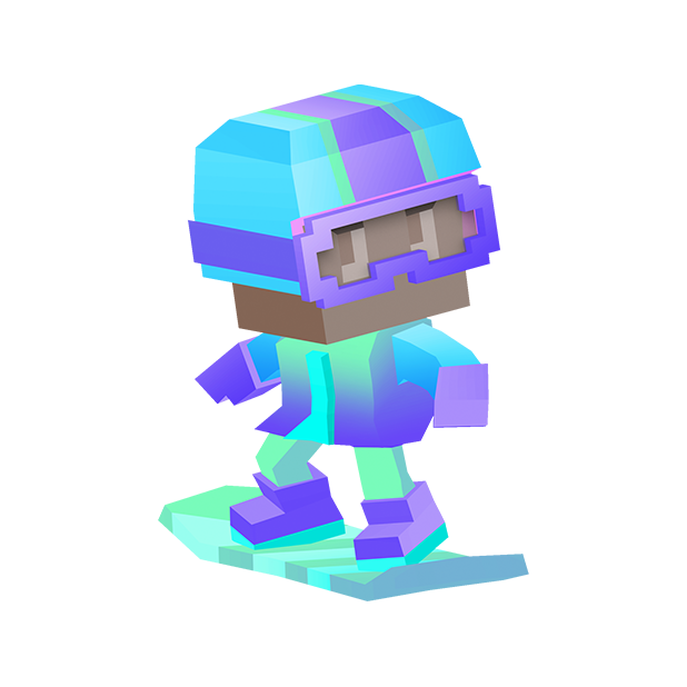 Blocky Snowboarding messages sticker-4