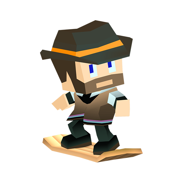 Blocky Snowboarding messages sticker-11