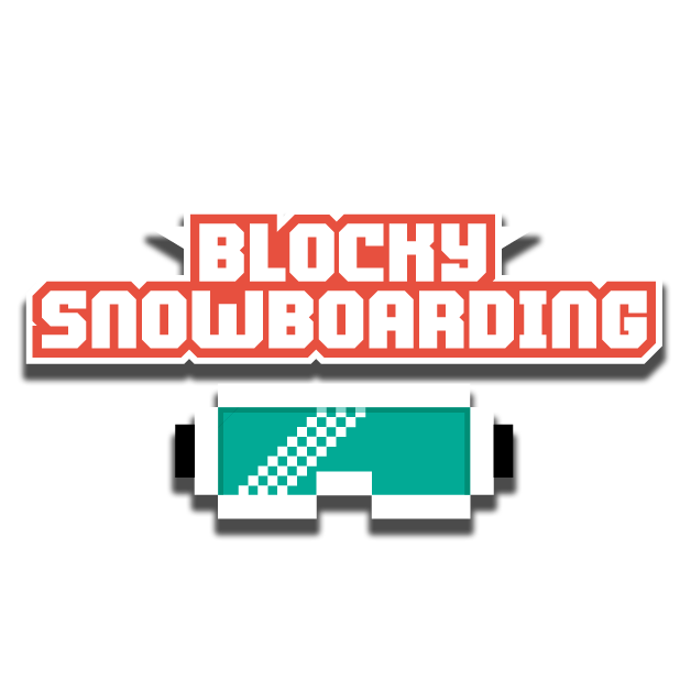 Blocky Snowboarding messages sticker-9