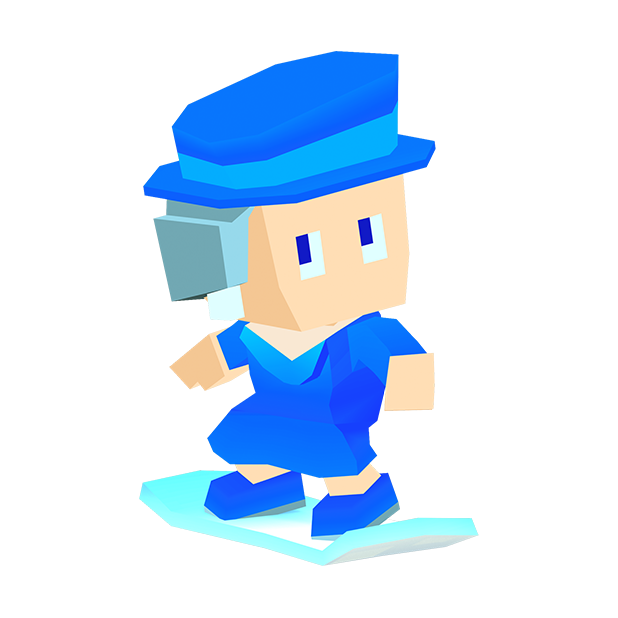 Blocky Snowboarding messages sticker-7