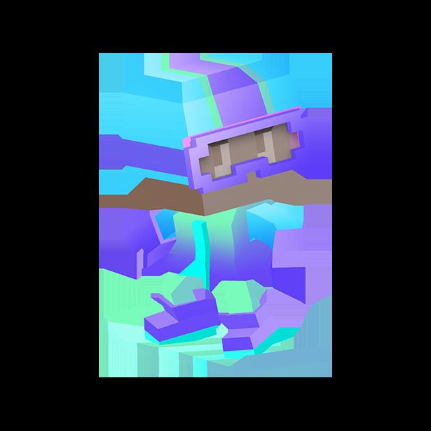 Blocky Snowboarding messages sticker-4