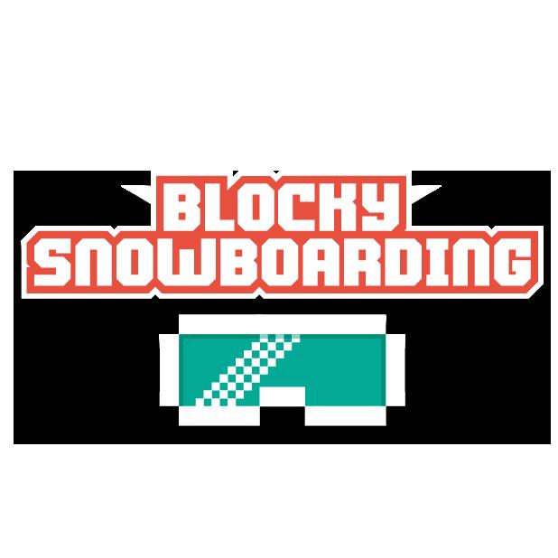 Blocky Snowboarding messages sticker-9