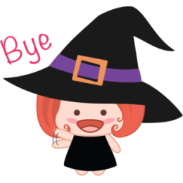 Wikie The Witch stickers by Linh for iMessage messages sticker-2