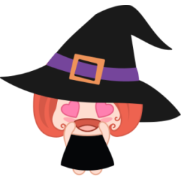 Wikie The Witch stickers by Linh for iMessage messages sticker-4