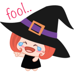 Wikie The Witch stickers by Linh for iMessage messages sticker-8