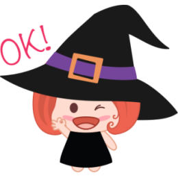 Wikie The Witch stickers by Linh for iMessage messages sticker-7