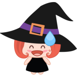 Wikie The Witch stickers by Linh for iMessage messages sticker-6