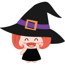 Wikie The Witch stickers by Linh for iMessage messages sticker-3