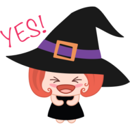 Wikie The Witch stickers by Linh for iMessage messages sticker-5