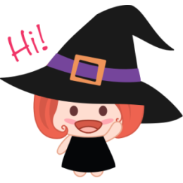Wikie The Witch stickers by Linh for iMessage messages sticker-1