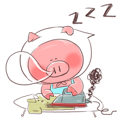 Super busy piggy messages sticker-11