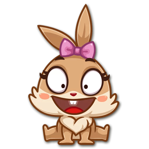 Alfie the animated rabbit messages sticker-5
