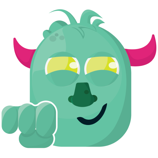 Baby Monster Sticker - Cute Messages messages sticker-6