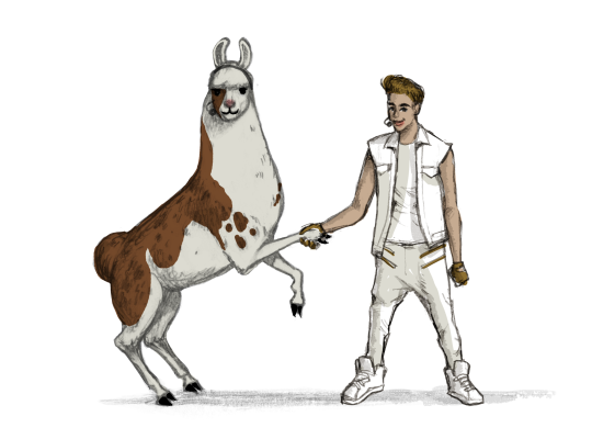 Llama Diplomat - Animated llama stickers messages sticker-1