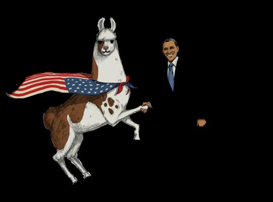 Llama Diplomat - Animated llama stickers messages sticker-9
