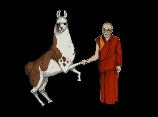 Llama Diplomat - Animated llama stickers messages sticker-3