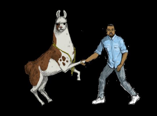 Llama Diplomat - Animated llama stickers messages sticker-6
