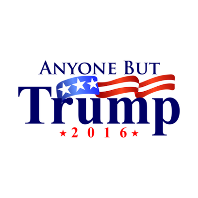 Never Donald Trump for President 2016 Stickers messages sticker-4