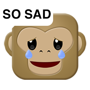Monkey Emojis messages sticker-6