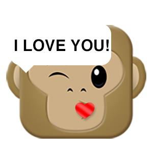 Monkey Emojis messages sticker-3