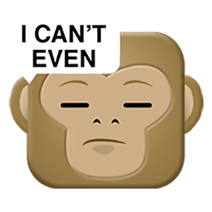 Monkey Emojis messages sticker-11