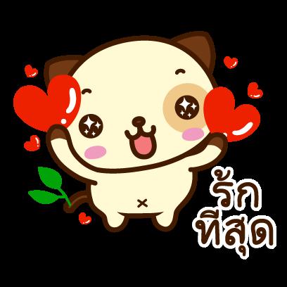 แพนด้าด๊อก (ภาษาไทย) - Mango Sticker messages sticker-7