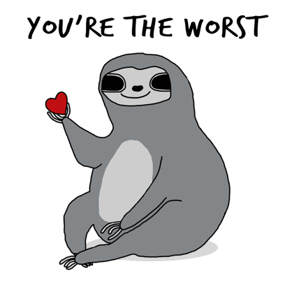 Sassy Sloths messages sticker-9