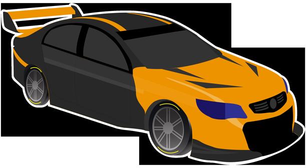 V8 Bathurst Supercars Stickers messages sticker-5