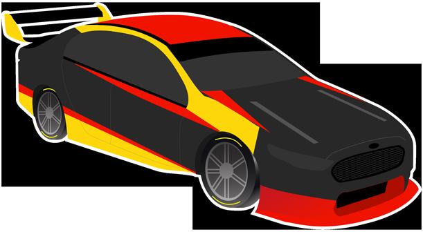V8 Bathurst Supercars Stickers messages sticker-6