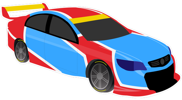 V8 Bathurst Supercars Stickers messages sticker-9