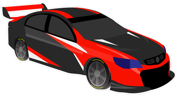 V8 Bathurst Supercars Stickers messages sticker-5