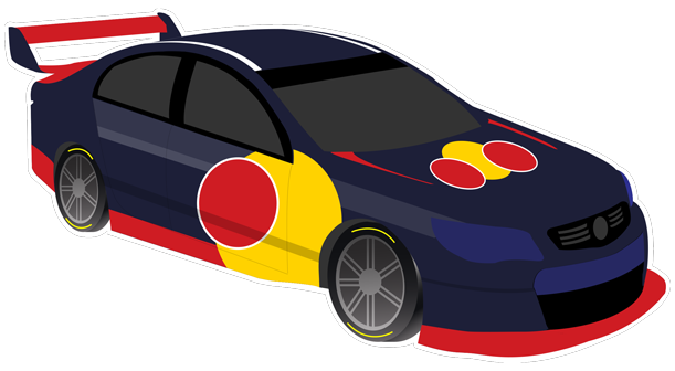 V8 Bathurst Supercars Stickers messages sticker-1