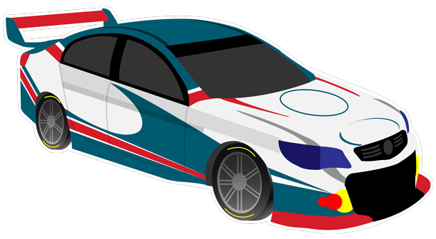 V8 Bathurst Supercars Stickers messages sticker-4