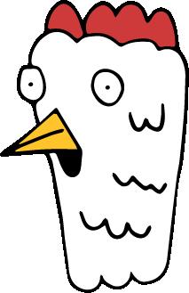Chicken Headz messages sticker-1