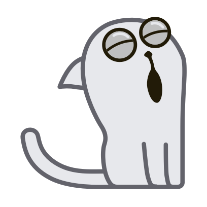 Hoover the Simple cat messages sticker-3