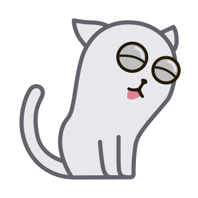 Hoover the Simple cat messages sticker-6