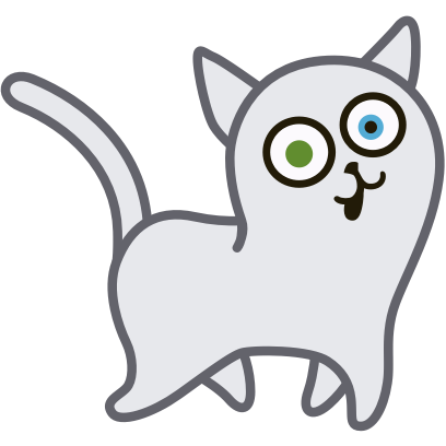 Hoover the Simple cat messages sticker-2