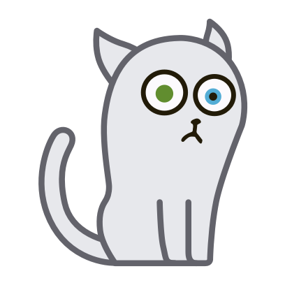 Hoover the Simple cat messages sticker-1