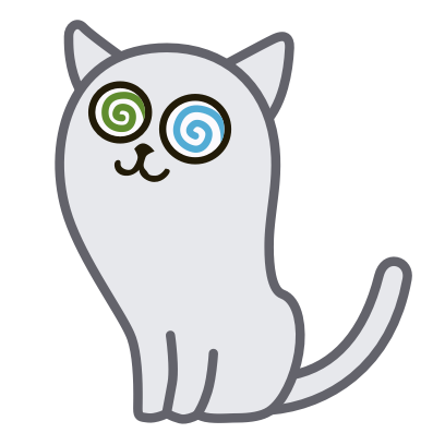 Hoover the Simple cat messages sticker-8
