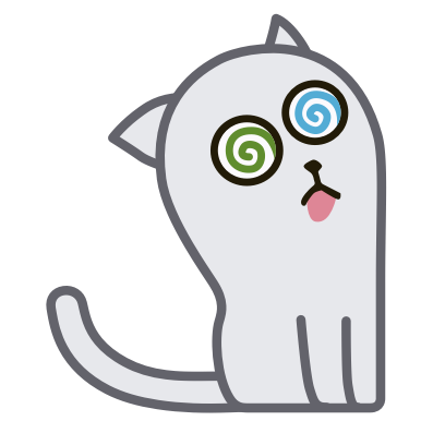 Hoover the Simple cat messages sticker-4