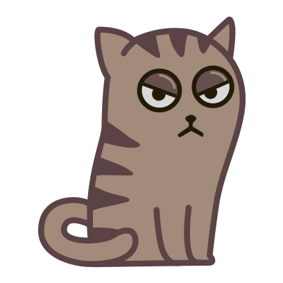Fixel the Snob cat messages sticker-3