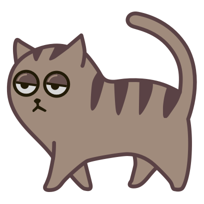 Fixel the Snob cat messages sticker-8