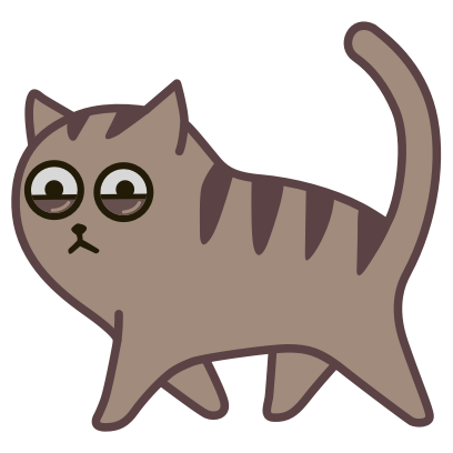 Fixel the Snob cat messages sticker-2